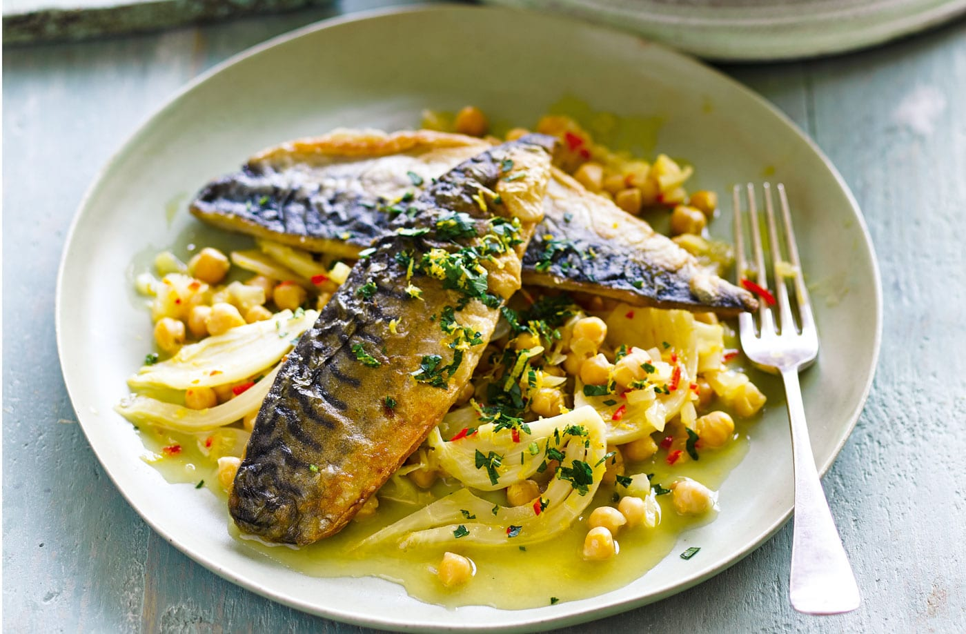 Mackerel With Citrus Chickpeas Mourne Fishbox