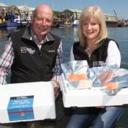 Fresh from the shore: Harold Nicholson and his daughter Lisa McBride with the new Mourne Seafoods fishbox range in Kilkeel